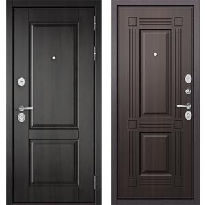Стальная дверь Бульдорс STANDART 90 PP дуб графит 9SD-2 / ларче