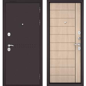 Стальная дверь Бульдорс MASS 90 ясень ривьера крем 9S-136