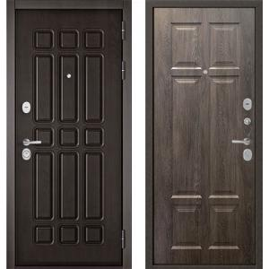 Стальная дверь Бульдорс STANDART 90 дуб шоколад / дуб шале сереб