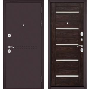 Стальная дверь Бульдорс MASS 90 дуб темный СR-3 царга Lakabel Cr