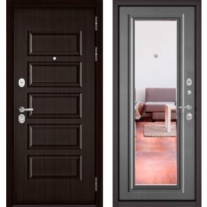 Бульдорс MASS90 Ларче шоколад 9S-108 / Бетон серый 9S-140 зеркал