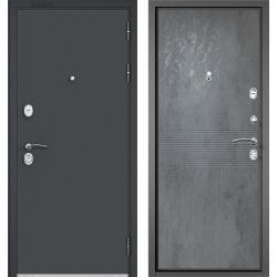Стальная дверь Зелар ЕВРО Простор Черный шелк / Бетон темный