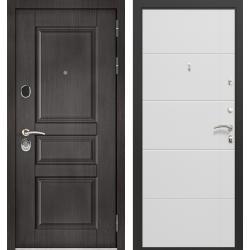дверь Зелар Евро Конструктор Венге тисненный рис. 149, Белый мат
