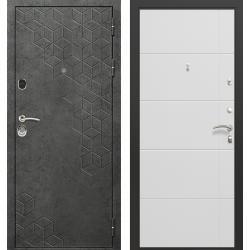 дверь Зелар Евро Конструктор Бетон темный рис. 154, Белый матовы