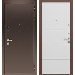 дверь Зелар Евро Конструктор Медь, Белый матовый рис. 156