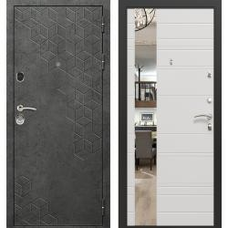 дверь Зелар Евро Конструктор Бетон темный рис. 154, Силк сноу ри
