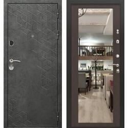 дверь Зелар Евро Конструктор Бетон темный рис. 154, Венге тиснен