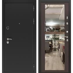 дверь Зелар Евро Конструктор Черный муар, Венге тисненный рис. Ф