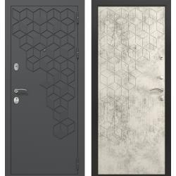дверь Зелар Евро Конструктор Темно серый гексагон 7016 штамп 1,