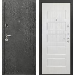 дверь Зелар Евро Конструктор Бетон темный рис. 154, Ясень белый