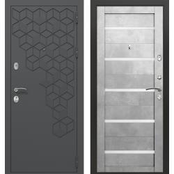 дверь Зелар Евро Конструктор Темно серый 7016 штамп 1 гексагон,
