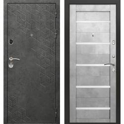 дверь Зелар Евро Конструктор Бетон темный рис. 154, Бетон голубо