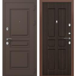 дверь Зелар Евро Конструктор Ral 8019 - Штамп-2 Коричневый, Венг