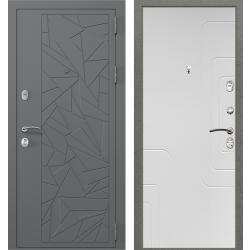дверь Зелар Евро Конструктор Ral 7012 - Штамп 3 Серый Осколки, С