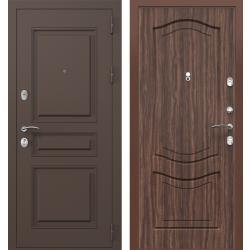 дверь Зелар Евро Конструктор Ral 8019 - Штамп-2 Коричневый, Тисн
