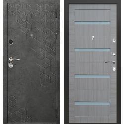 дверь Зелар Евро Конструктор Бетон темный рис. 154, Царга 4, рис