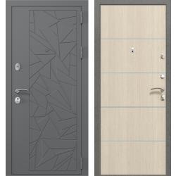 дверь Зелар Евро Конструктор Ral 7012 - Штамп 3 Серый Осколки, Л