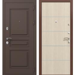 дверь Зелар Евро Конструктор Ral 8019 - Штамп-2 Коричневый, Лист