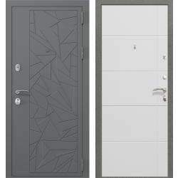 дверь Зелар Евро Конструктор Ral 7012 - Штамп 3 Серый Осколки, Б
