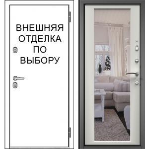 дверь Зелар Внутренняя отделка Белый матовый рис. ФЛЗ-70 зеркало