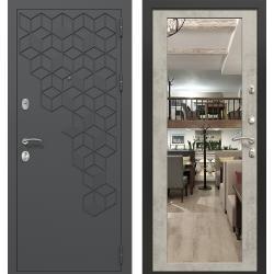 дверь Зелар Евро Конструктор Темно серый 7016 штамп 1 - гексагон