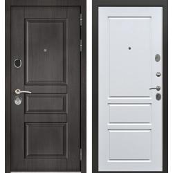 дверь Зелар Евро Конструктор Венге тисненный рис. 149, Белый ясе
