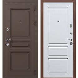 дверь Зелар Евро Конструктор Ral 8019 - Штамп-2 Коричневый, Белы