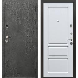 дверь Зелар Евро Конструктор Бетон темный рис. 154, Белый ясень